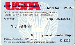 United States Parachute Association membership card